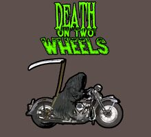 Death On Two Wheels - Reaper Riding Motorcycle Unisex T-Shirt