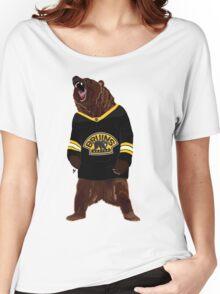 Boston Bruins Bear Women's Relaxed Fit T-Shirt