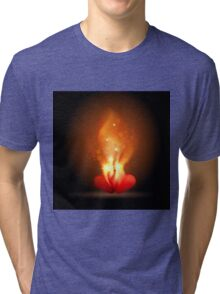 Burning Hearts Tri-blend T-Shirt