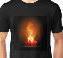 Burning Hearts Unisex T-Shirt