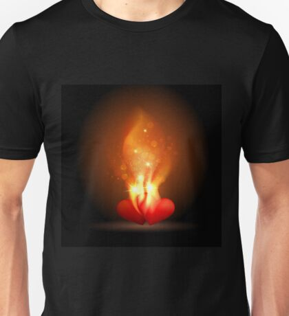 Burning Hearts Unisex T-Shirt