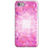 Pink and White Geometric Pattern Phone Case iPhone Case/Skin