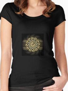Steampunk Background Women's Fitted Scoop T-Shirt