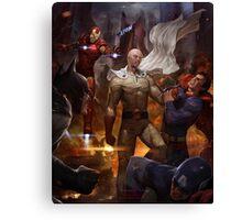 Saitama vs Superheroes Canvas Print