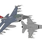 187th FW 100th FS Red Tails F-16 Vipers Alabama ANG by JeepsandPlanes