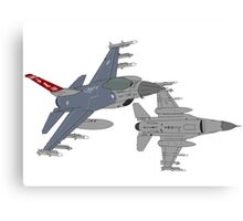 187th FW 100th FS Red Tails F-16 Vipers Alabama ANG Canvas Print