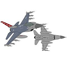 187th FW 100th FS Red Tails F-16 Vipers Alabama ANG Photographic Print