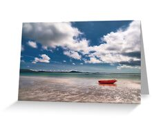 The Wee Red Rowing Boat Greeting Card