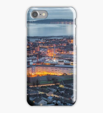 Evening over Swansea city iPhone Case/Skin