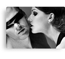 New Desire - sexy prefect calm love erotic art  t-shirts fetish black white valentine beautiful dark Canvas Print