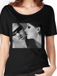 New Desire - sexy prefect calm love erotic art  t-shirts fetish black white valentine beautiful dark Women's Relaxed Fit T-Shirt
