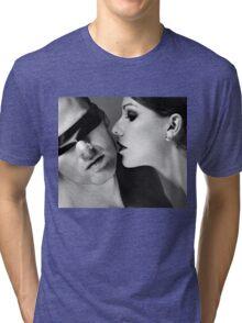New Desire - sexy prefect calm love erotic art  t-shirts fetish black white valentine beautiful dark Tri-blend T-Shirt