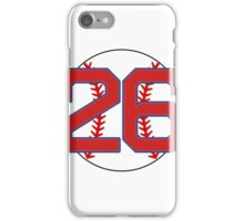 26 Red Sox Wade Boggs iPhone Case/Skin