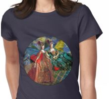 Vintage Golden Women Gemini Gothic Whimsical Collage Womens Fitted T-Shirt