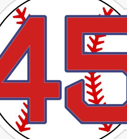 45 Red Sox Pedro Martinez Sticker