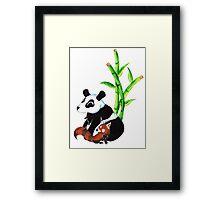 Panda Duo Framed Print