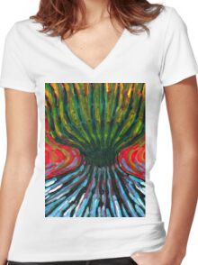 Odd Tree Women's Fitted V-Neck T-Shirt
