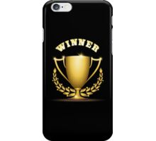 Golden trophy cup iPhone Case/Skin
