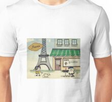 Mallow Travelers- France Unisex T-Shirt