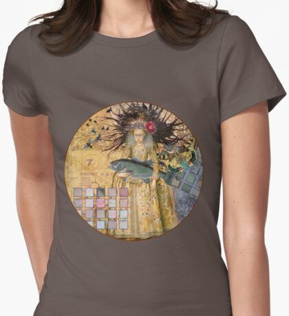 Whimsical Pisces Woman Renaissance fishing Gothic Womens Fitted T-Shirt