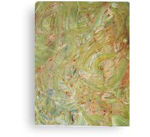 Abstract Green Swirls Canvas Print
