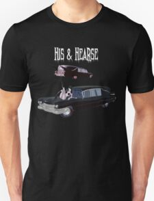 His And Hearse - Bikini Girl Classic Car (White Letter Variant) T-Shirt