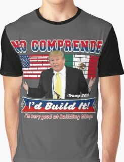 Trump 2016 Build the Wall Original Digital Art Graphic T-Shirt