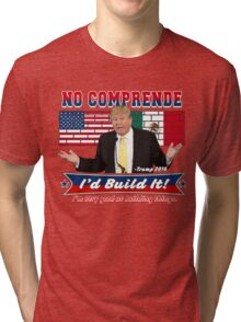 Trump 2016 Build the Wall Original Digital Art Tri-blend T-Shirt