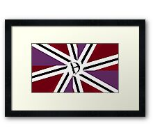 The national flag of Haganistan (with logo) Framed Print