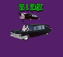His And Hearse - Bikini Girl Classic Car (Green Letter Variant) Women's Fitted V-Neck T-Shirt