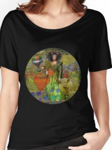 Vintage Taurus Gothic Whimsical Collage Woman Surreal Women's Relaxed Fit T-Shirt