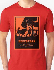Beefsteak al fresco, silhouette art T-Shirt