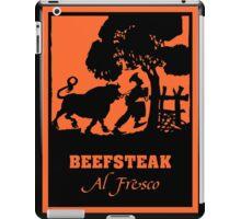 Beefsteak al fresco, silhouette art iPad Case/Skin