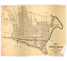 Map of Georgetown D.C. (District of Columbia) 1874 Poster