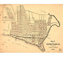 Map of Georgetown D.C. (District of Columbia) 1874 Photographic Print