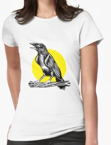 Black Crow Womens Fitted T-Shirt