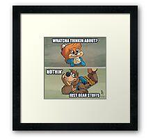 0011 - Bear Stuffs Framed Print