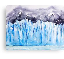 Glacier. Watercolor landscape. Metal Print