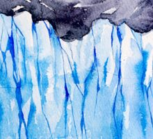 Glacier. Watercolor landscape. Sticker
