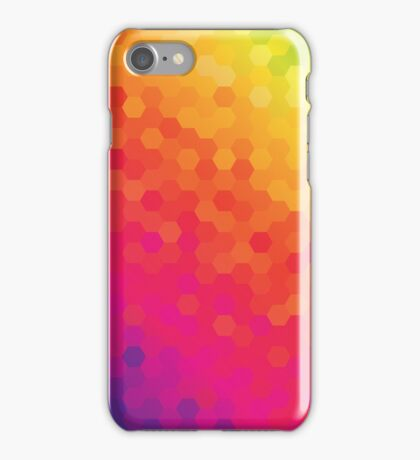 Bright Colored Hexagonal Pattern iPhone Case/Skin