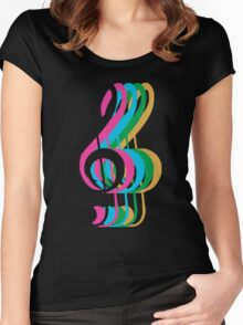 PTX Music Notes Women's Fitted Scoop T-Shirt