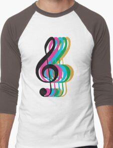 PTX Music Notes Men's Baseball ¾ T-Shirt