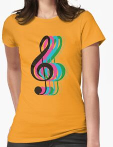 PTX Music Notes Womens Fitted T-Shirt