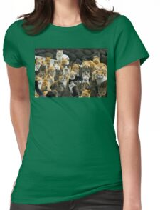 Cat Party Womens Fitted T-Shirt