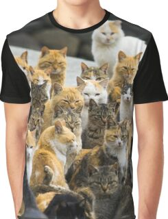 Cat Party Graphic T-Shirt