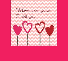 Where Love Grows Womens Fitted T-Shirt