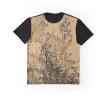 Edgy Sepia Graphic T-Shirt