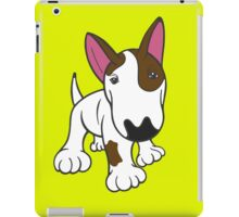 Bull Terrier Eye Patch Pup White iPad Case/Skin