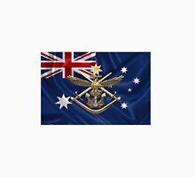 Australian Defence Force - ADF Badge over Australian Flag Unisex T-Shirt