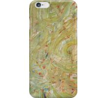 Abstract Green Swirls iPhone Case/Skin